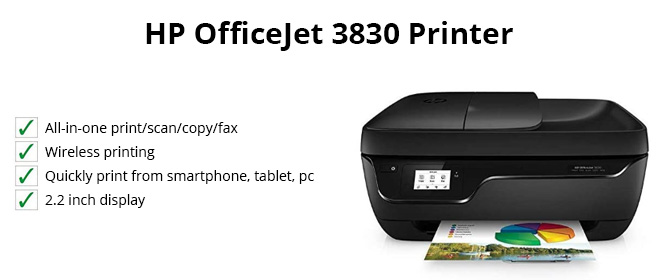 HP Officejet 3830 printer features