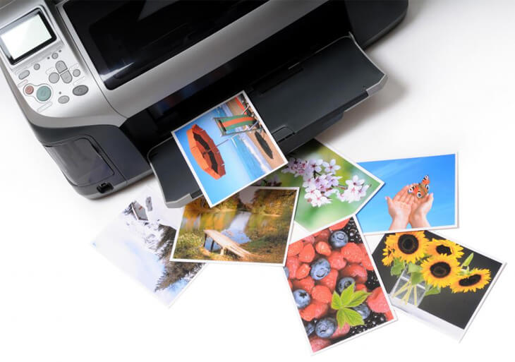 inkjet printer and color ink photographs